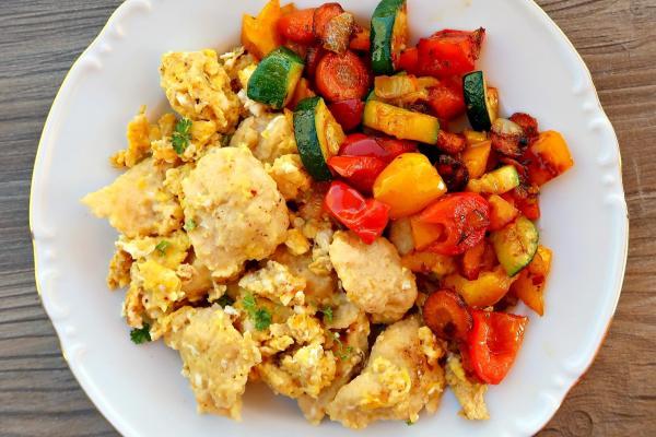 Vajíčkové noky se zeleninou
