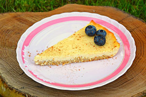 Vločkový koláč s tvarohem
